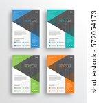 set business marketing flyer ... | Shutterstock .eps vector #572054173
