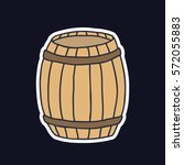 doodle icon  sticker. barrel.... | Shutterstock .eps vector #572055883