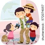 stickman illustration of an... | Shutterstock .eps vector #572074057