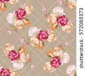 seamless floral pattern with... | Shutterstock .eps vector #572085373