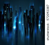 night city background  vector... | Shutterstock .eps vector #572092387