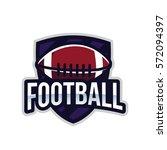 american football logo sport | Shutterstock .eps vector #572094397
