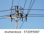 transmission line.   Shutterstock . vector #572095087