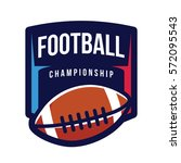 american football championship... | Shutterstock .eps vector #572095543