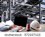engineering industry concept in ... | Shutterstock . vector #572107123