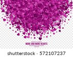 abstract vector 3d hearts on... | Shutterstock .eps vector #572107237