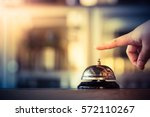 bell call vintage service with... | Shutterstock . vector #572110267