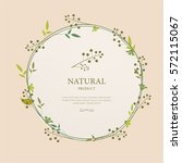 natural product label and... | Shutterstock .eps vector #572115067