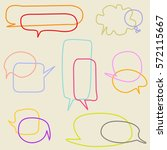 set of speech bubbles  | Shutterstock .eps vector #572115667
