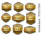 luxury premium golden labels... | Shutterstock .eps vector #572117563