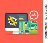 computer repair  computer... | Shutterstock .eps vector #572117983