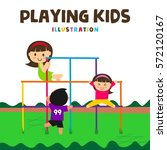 kids playing illustration ... | Shutterstock .eps vector #572120167
