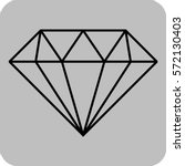 vector illustration of diamond... | Shutterstock .eps vector #572130403