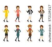 hipster character design vector. | Shutterstock .eps vector #572139217