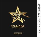 gold star logo vector in... | Shutterstock .eps vector #572140267