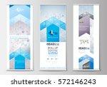 set of roll up banner stands ... | Shutterstock .eps vector #572146243