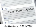 mark the doctor appointment in... | Shutterstock . vector #57214720