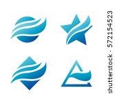 wave logo. wave icon set. waves ... | Shutterstock .eps vector #572154523