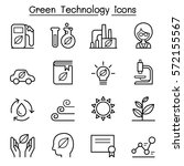 green technology icon set in... | Shutterstock .eps vector #572155567
