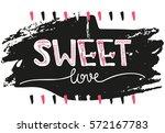 creative unique hand drawn... | Shutterstock . vector #572167783