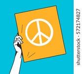 hand holding peace symbol   Shutterstock .eps vector #572174827