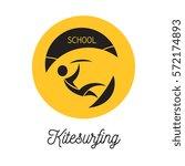 kitesurfer school round shape... | Shutterstock .eps vector #572174893
