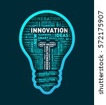 vector word cloud of innovation ... | Shutterstock .eps vector #572175907