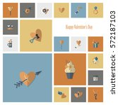 simple flat icons collection... | Shutterstock .eps vector #572187103