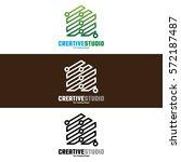 creative studio logo design for ...   Shutterstock .eps vector #572187487