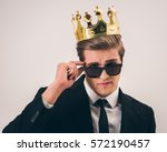 handsome young man in suit ... | Shutterstock . vector #572190457