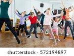ordinary boys and girls... | Shutterstock . vector #572194897