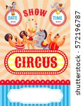 Colorful Circus Poster. Vector...