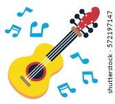 musical instruments guitar.... | Shutterstock .eps vector #572197147