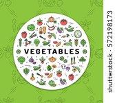 vegetables banner fresh... | Shutterstock .eps vector #572198173