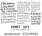 hand drawn alphabet letters... | Shutterstock .eps vector #572198533