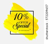 sale special offer 10  off sign ... | Shutterstock .eps vector #572209657