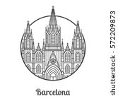 travel barcelona icon. gothic... | Shutterstock .eps vector #572209873