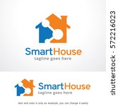 smart house logo template... | Shutterstock .eps vector #572216023