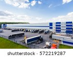 modern logistics center | Shutterstock . vector #572219287