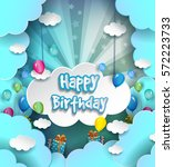 happy birthday vector design... | Shutterstock .eps vector #572223733