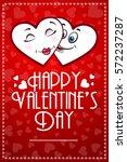 happy valentines day vector... | Shutterstock .eps vector #572237287