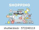 shopping concept illustration... | Shutterstock .eps vector #572240113