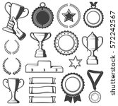 vintage sport awards elements... | Shutterstock .eps vector #572242567