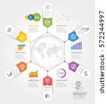 business timeline elements... | Shutterstock .eps vector #572244997