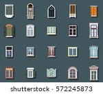 vector windows set flat design  | Shutterstock .eps vector #572245873