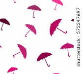 seamless pattern with umbrellas ... | Shutterstock .eps vector #572247697