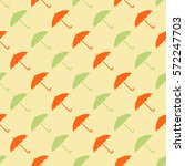 seamless pattern with umbrellas ... | Shutterstock .eps vector #572247703
