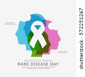 rare disease day poster or... | Shutterstock .eps vector #572251267