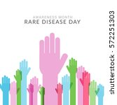 rare disease day poster or... | Shutterstock .eps vector #572251303