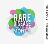 rare disease day poster or... | Shutterstock .eps vector #572251483